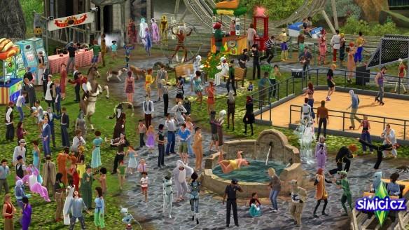 Naháč na obrázku v The Sims 3
